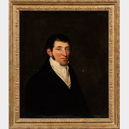 Attributed to Henry Perronet Briggs (British, 1791-1844)      Portrait of I. Barnard, Esq., Half Length