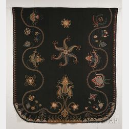 Embroidered Wool Coverlet