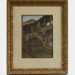 Sydney Richmond Burleigh (American, 1853-1931)      San Gimignano, Podesta