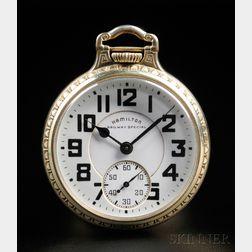 Hamilton 21-jewel Railway Special Open Face Watch
