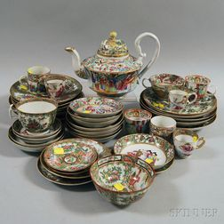 Approximately Forty-one Pieces of Rose Medallion and Rose Mandarin Tableware
