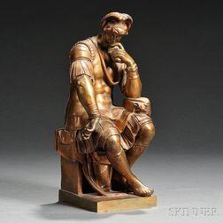 Grand Tour Bronze Figure of Lorenzo de Medici