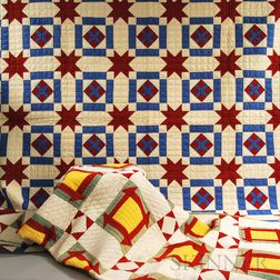Two Geometric-pattern Patchwork Quilts