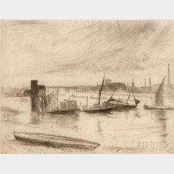 James Abbott McNeill Whistler (American, 1834-1903)      Battersea Dawn (Cadogan Pier)