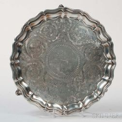 William Gale & Son Coin Silver Salver
