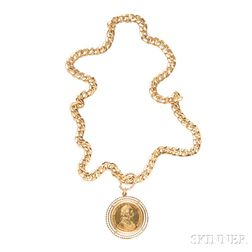 18kt Gold and Austro-Hungarian Gold Coin Pendant