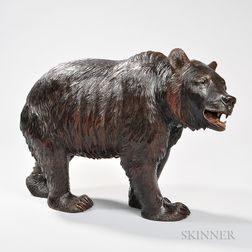 Carved and Polychrome-painted Bear