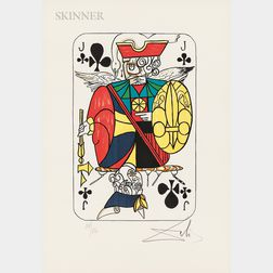 Salvador Dalí (Spanish, 1904-1989)      Four Images of Club Cards
