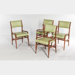 Four Gio Ponti for Cassina Model 676 Chairs