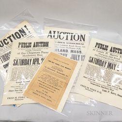 Five Auction and Flea Market Broadsides