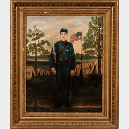 American School, 19th Century      Portrait of a New York Civil War Soldier