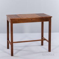 Custom Teak and Maple Veneer Games Table