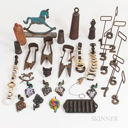 Group of Iron and Brass Decorative Items