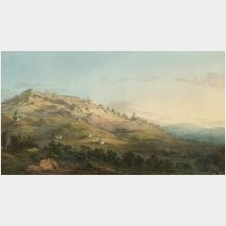 John Warwick Smith (British, 1749-1831)  Lot of Two Mountain Views:  Pass From the Tyrol into Italy, Near Verona