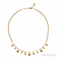 18kt Gold Gem-set Necklace, Chaumet