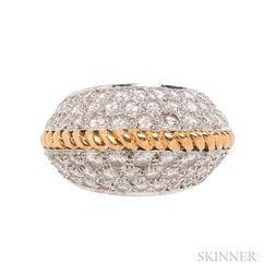18kt Gold and Diamond Bombe Ring, Kutchinsky