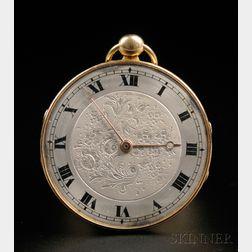 F. & A. Meylan Ultra-thin Open Face Gold Watch