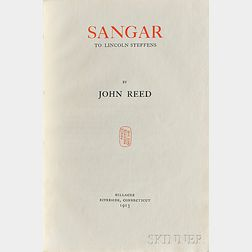 Reed, John (1887-1920) Sangar: The Mad Recreant Knight of the West  , First Edition, Inscribed Copy.