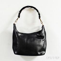 Gucci Black Leather Hobo Bag