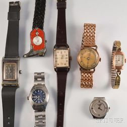 Seven Lady's Wristwatches