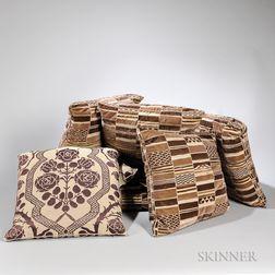 Seven Custom Fabric Pillows