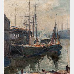 Emile Albert Gruppé (American, 1896-1978)      Morning Gloucester, Massachusetts
