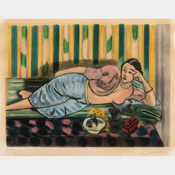 After Henri Matisse (French, 1869-1954)      Odalisque au coffret rouge, 1926