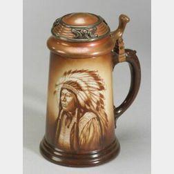 Lenox Ceramic Indian Chief Portrait Tankard