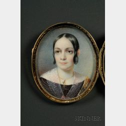 Two Portrait Miniatures of a Man and a Woman