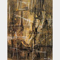 Boris Margo (Ukrainian/American, 1902-1995)      Untitled [Abstract]
