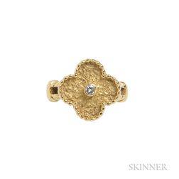 "18kt Gold and Diamond ""Vintage Alhambra"" Ring, Van Cleef & Arpels"