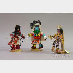 Three Contemporary Kachinas