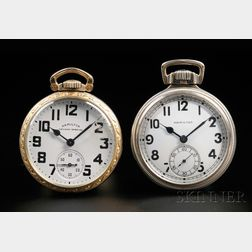Two Hamilton Lever-set Open Face Watches