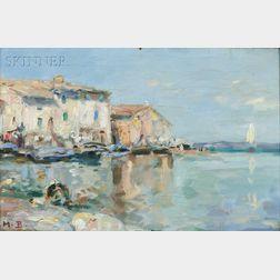 Maurice Bompard (French, 1857-1936)      Italian Coastal View