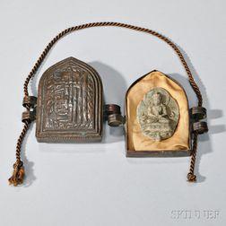 Terracotta Buddha in a Portable Bronze Case