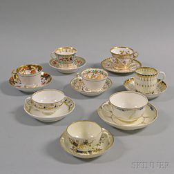 Eight Porcelain Teacups and Saucers