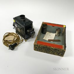 German Magic Lantern and Slides.     Estimate $200-300