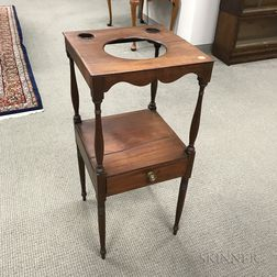 Regency Mahogany One-drawer Washstand