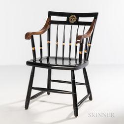 Black-painted Harvard Windsor Armchair