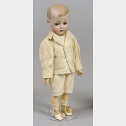 "Bruno Schmidt ""Tommy Tucker"" Bisque Head Doll"
