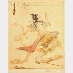Elyse Ashe Lord (British, 1900-1971)      Lot of Three Images of a Dancer: Li-Si Dancer