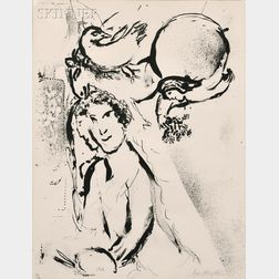 Marc Chagall (French/Russian, 1887-1985)      Autoportrait blanc