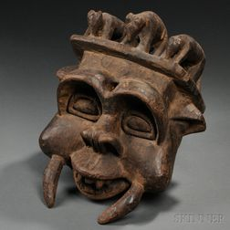 Cameroon-style Carved Wood Mask