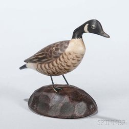 Carved and Painted Miniature Canada Goose Figure