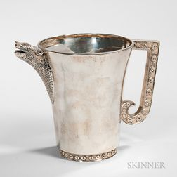 Tane Decorated Silver Pitcher
