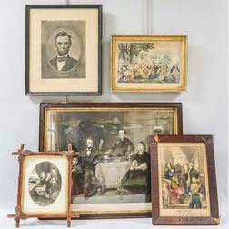 Five Framed Engravings