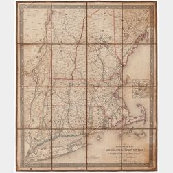 Railroad Map of New England & Eastern New York Compiled from the Most Authentic Sources by J.H. Goldthwait.