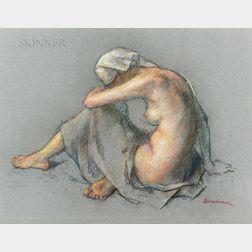 Robert Brackman (American, 1898-1980)      Seated Nude