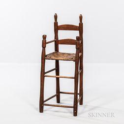 Early Slat-back High Chair