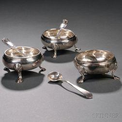 Three George III Sterling Silver Salts